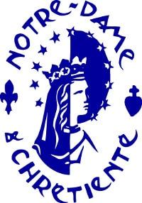 logo Notre Dame chrétienté bleu