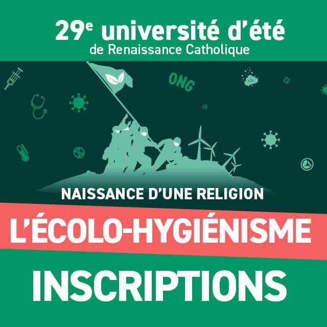affiche de l'université d'été de renaissance catholique